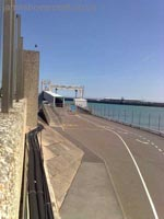 Dover Hoverport being demolished, June 2009 - The Seacat vehicle gantry (James Rowson).